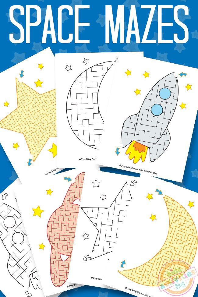 Space Mazes {Free Kids Printable} - Kids Activities