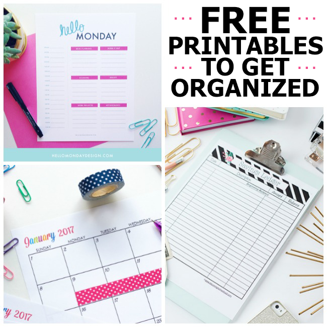 A Perfectly Organized Mudroom Just A Girl And Her Blog: 10 Gorgeous Free Printables To Get You Organized