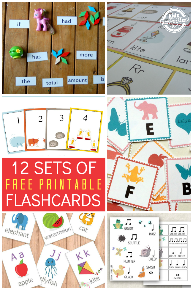 This is an image of Amazing Printable Flashcards for Toddler