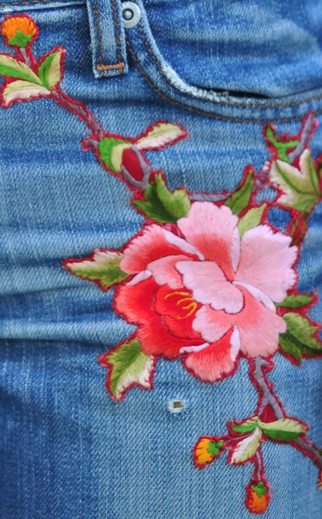 Diy Floral Embroidered Denim Inspired By Gucci Jeans Love Maegan