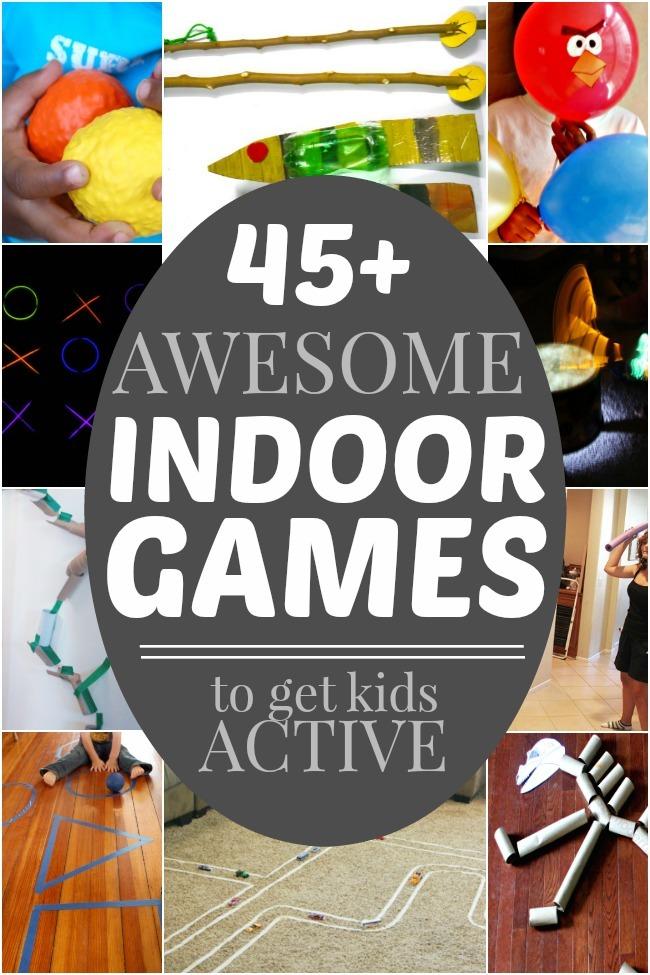 45+ ACTIVE INDOOR GAMES - Kids Activities