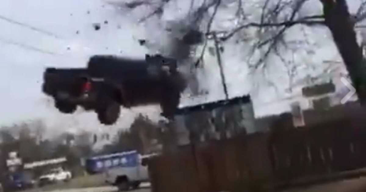 VIDEO: Stolen Pickup Launches Up Embankment, Goes Airborne During Pursuit