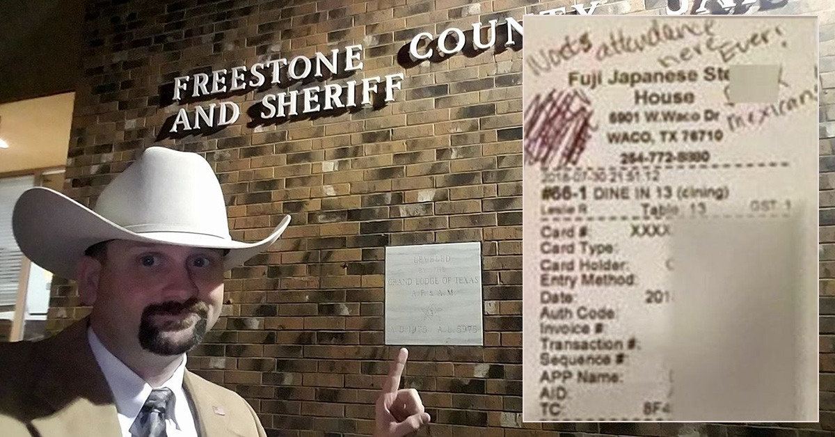 Waitress Caught Framing Sheriff's Employee With Bogus Racist Message On Check