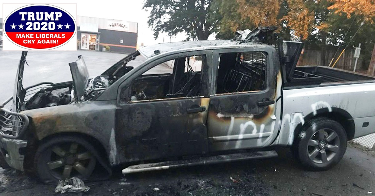 Truck Allegedly Torched Because Of Pro-Trump Bumper Stickers