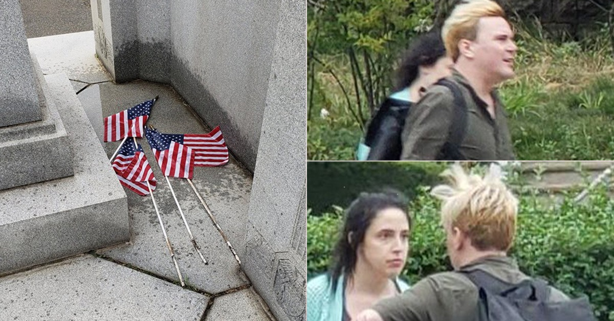 Report: Couple Pulled Out Flags At WWII Veteran Cemetery And Urinated On Them