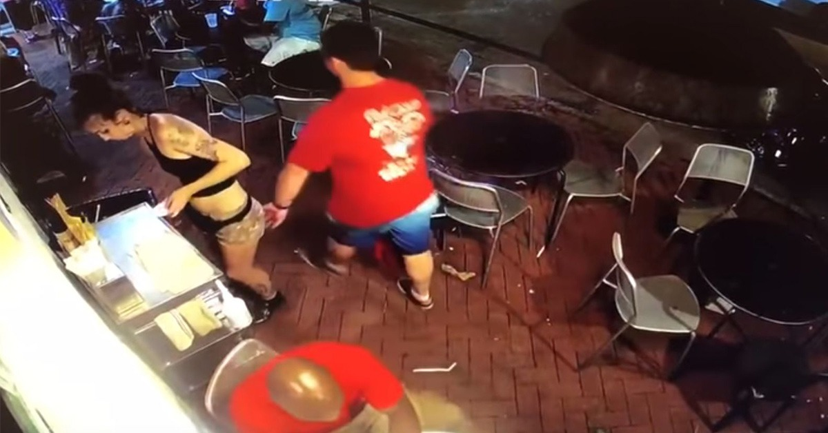 VIDEO: Man Grabs Server's Butt, Then She Unleashes Massive Whooping