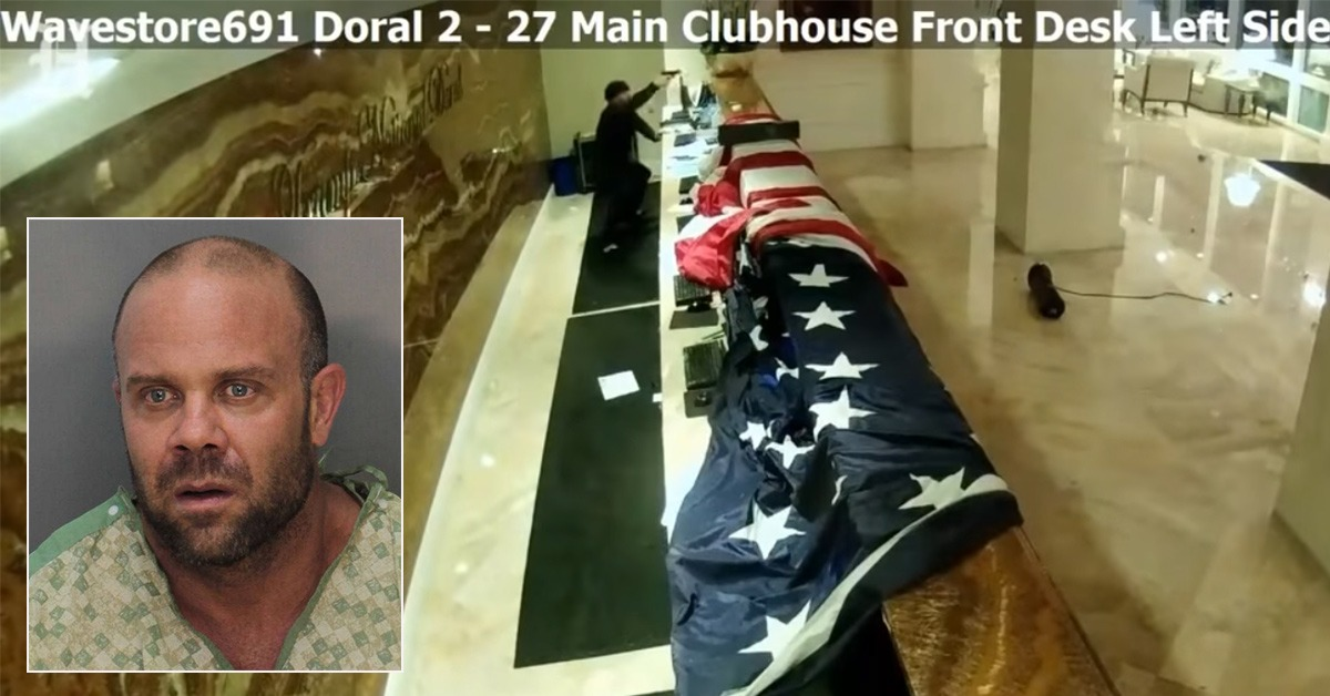 Newly-Released Video Shows Shooter's Gunfight With Cops At Trump Doral Hotel