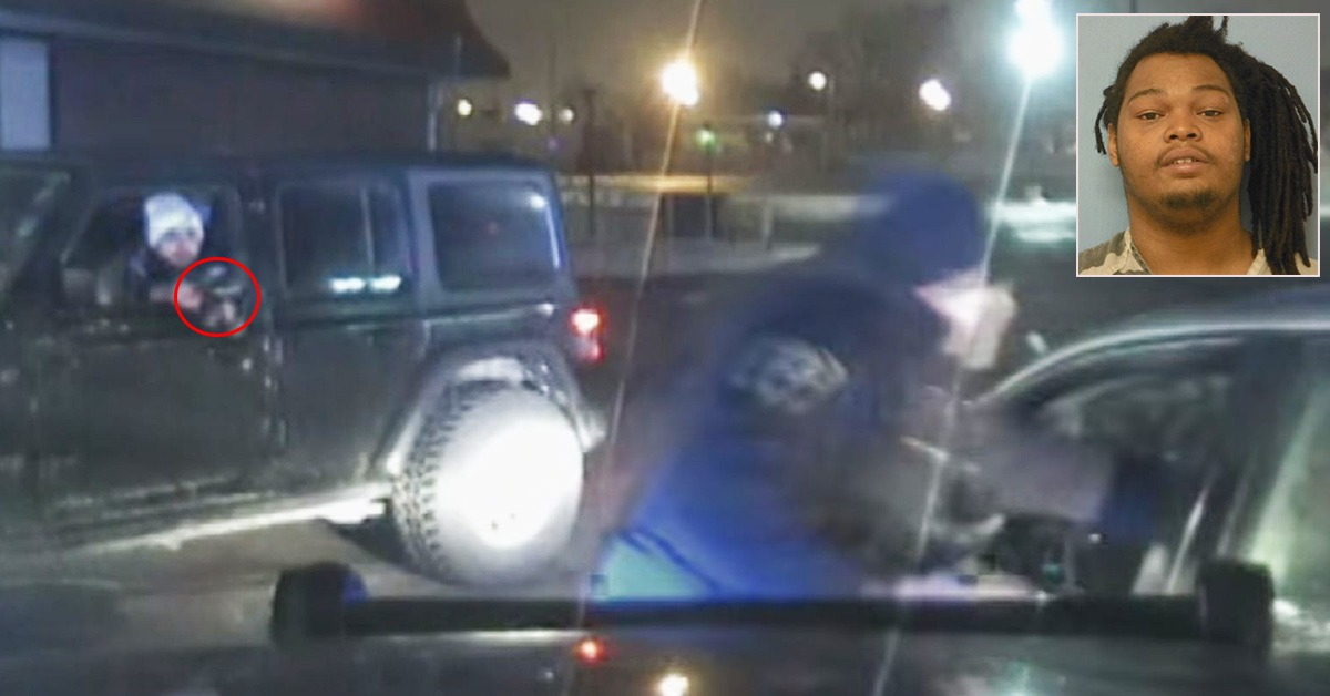 VIDEO: Citizen Opens Fire On Suspect Fleeing From Cop - Blue