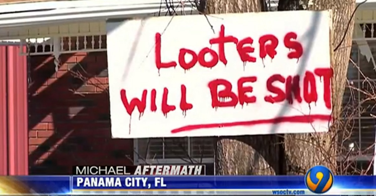 Police Are Arresting Dozens Of Armed Looters In Hurricane-Ravaged Area
