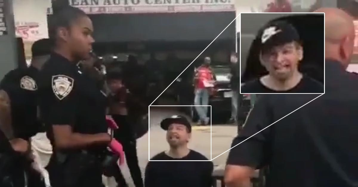 VIDEO: Nike-Wearing Man Enraged As Cop Is Unfazed By His 100+ Racial Slurs