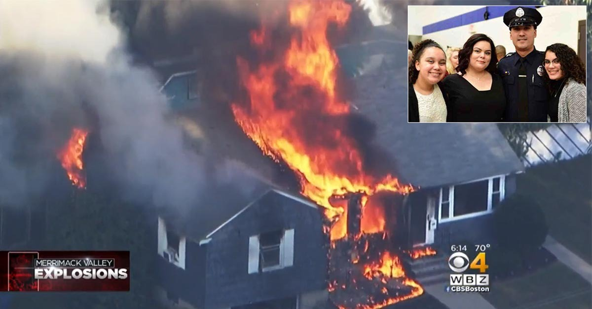 Officer Chooses To Stay On Duty Saving People As His Home Explodes