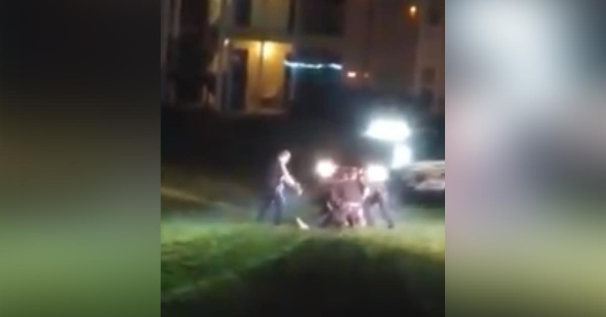VIDEO: Wounded Fugitive Shoots At Police As They Move In To Save Him