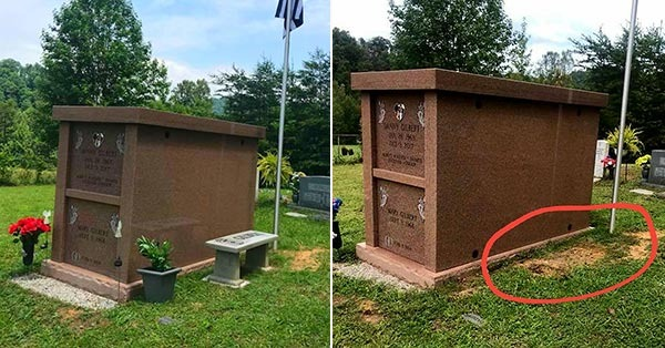 Thieves Steal Police Chief's Memorial At His Gravesite