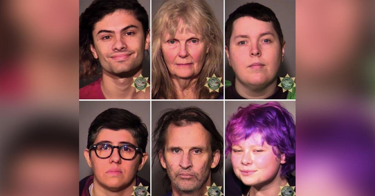VIDEO: 6 Antifa Arrested After Attacks At #HimToo Rally, Mugshots Unmask Them