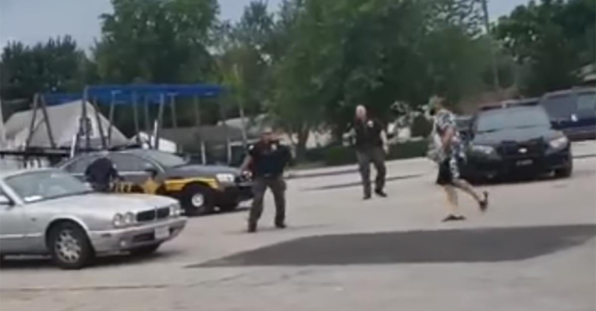 VIDEO: Combative Man Fights Off 3 Cops, Steals Patrol Car