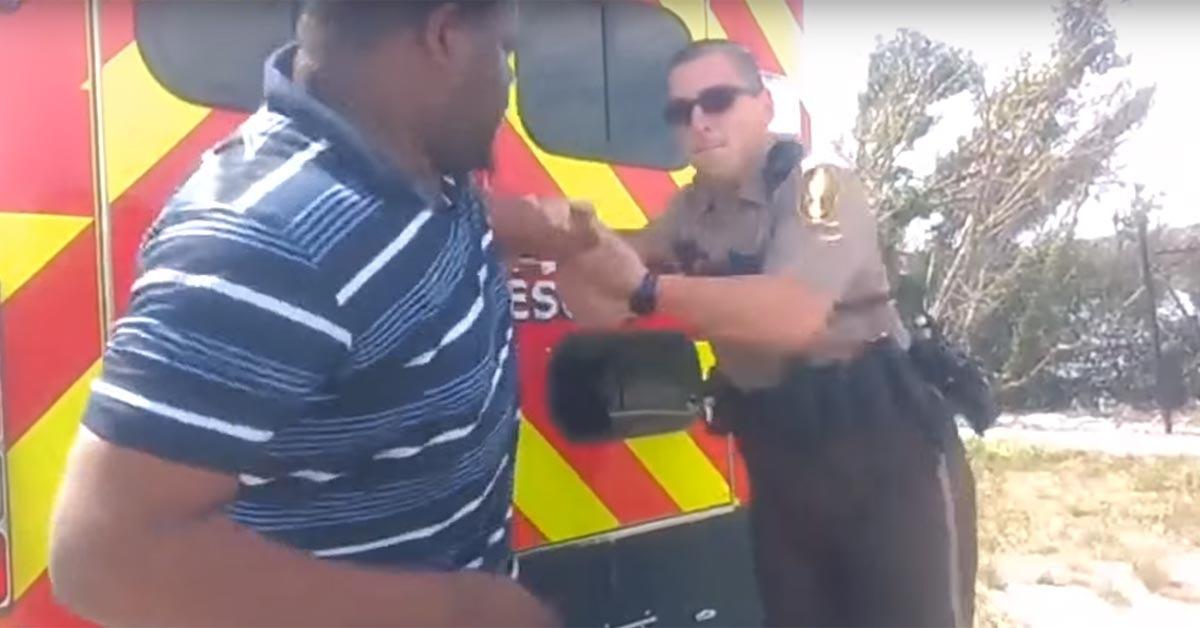 VIDEO: Man Suddenly Takes Cop's Taser, Gets Shot