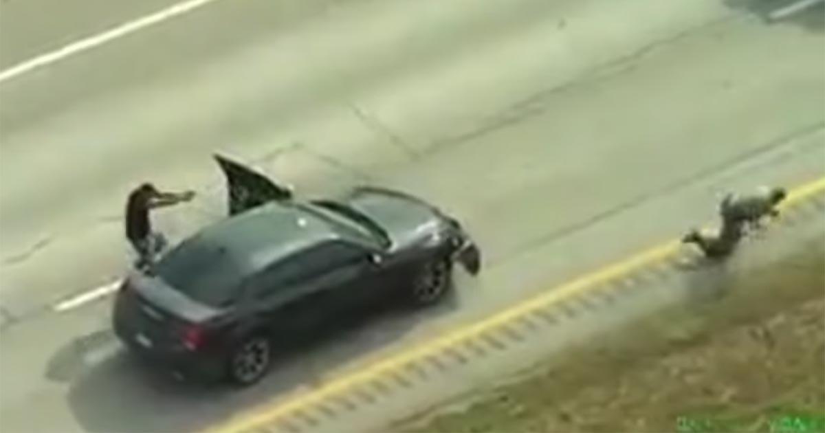 VIDEO: Helicopter Footage Shows Suspect Gun Down Trooper, Get Taken Out