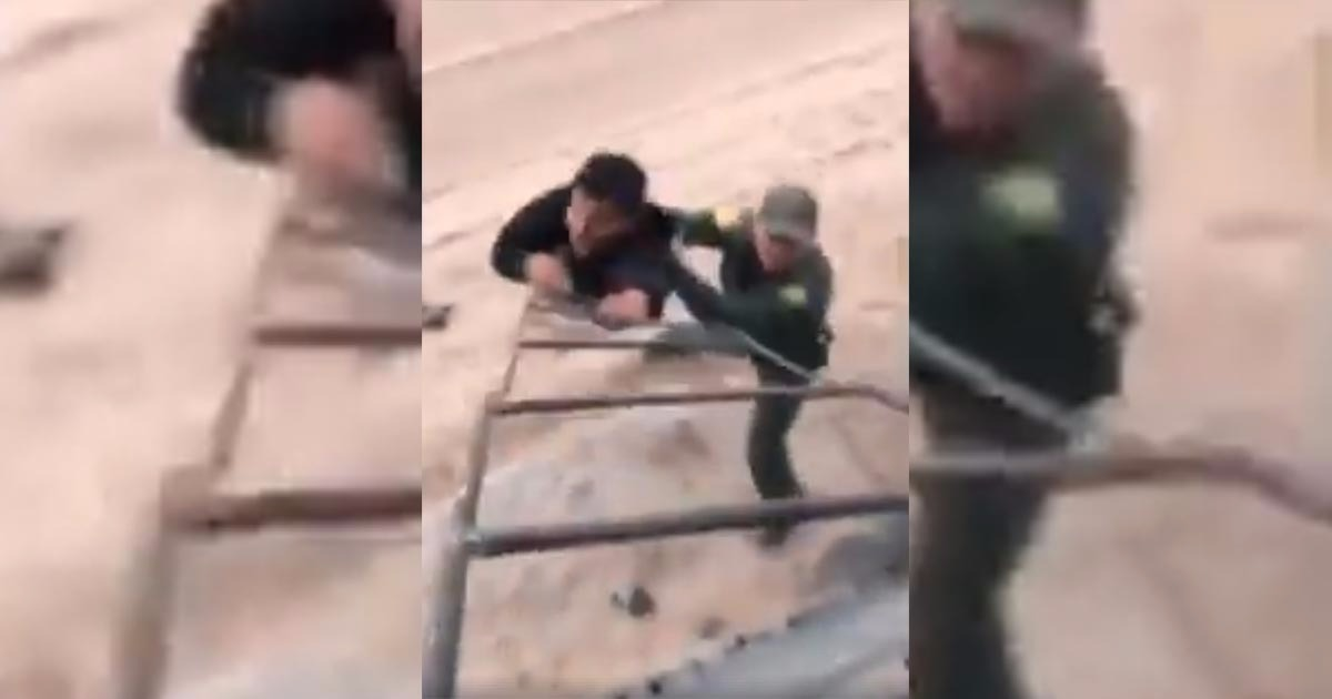 VIDEO: Border Patrol Opens Can Of Whoop-A– As Man Flees Over Wall
