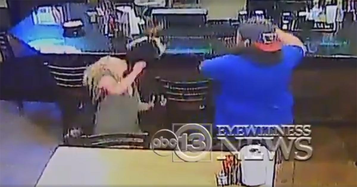VIDEO: Bar-Fight Between Couple Goes Viral After Man Ends Fight Without Spilling A Drop Of Beer