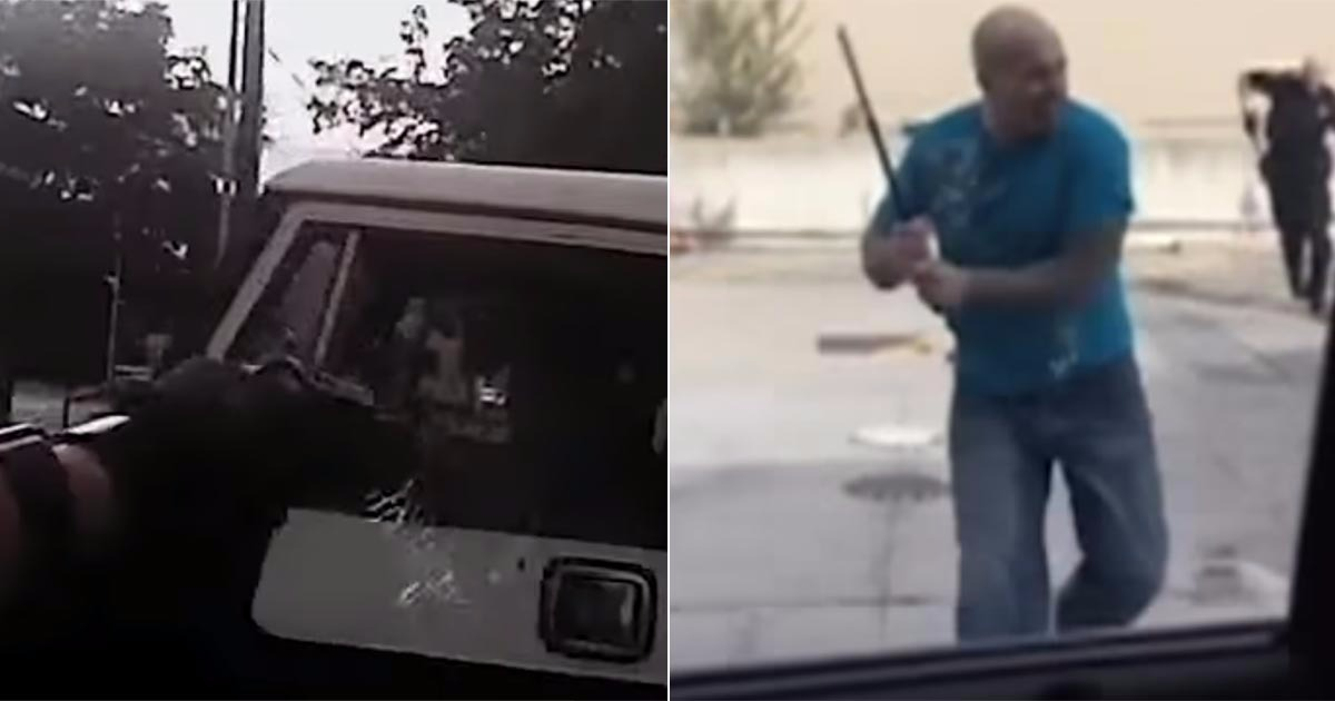 VIDEO: Man Steals Officer's Baton And Starts Beating Him, Gets Turned Into Human Sprinkler