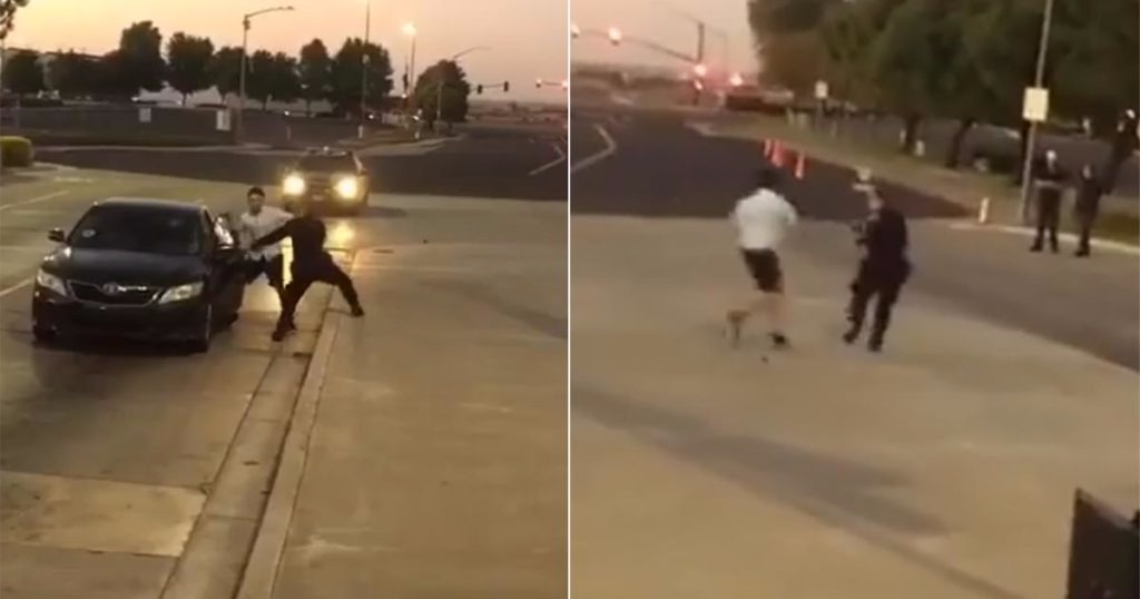 VIDEO: Suspect Attacks Officer – Officer Runs Away While Suspect Beats On Him