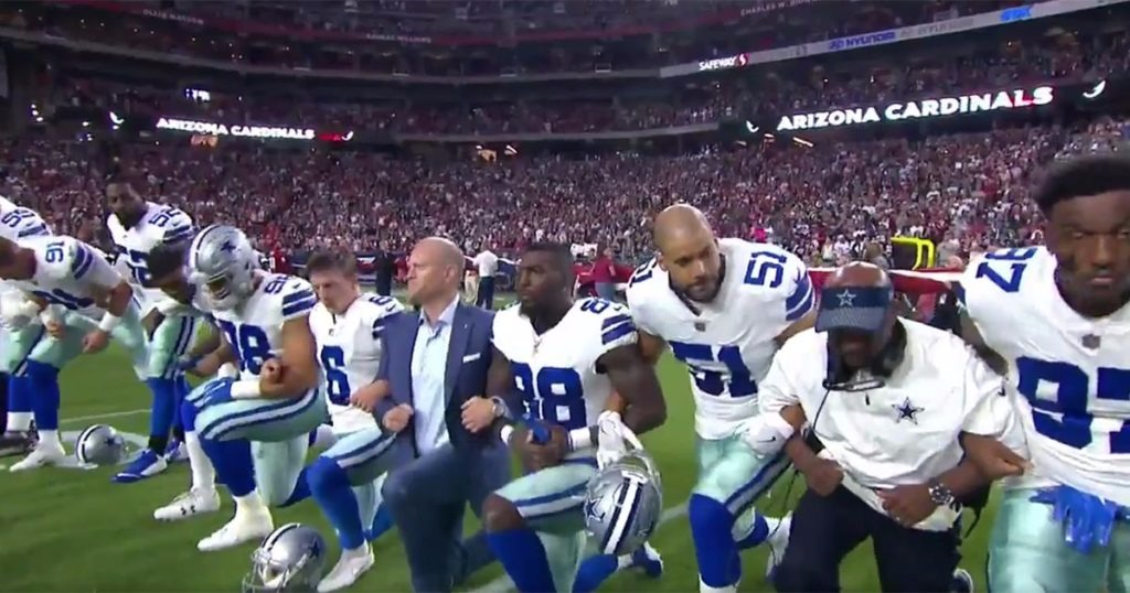 Dallas Cowboys Owner, Jerry Jones, Tells Players That They Will Stand For Flag Or Sit For Game
