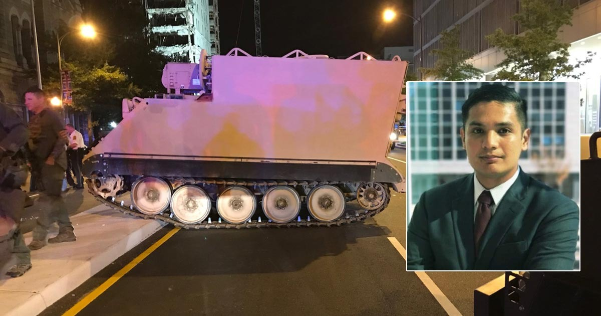 Soldier Who Stole Armored Carrier Says He Was Ordered To Do It To Test The Cops