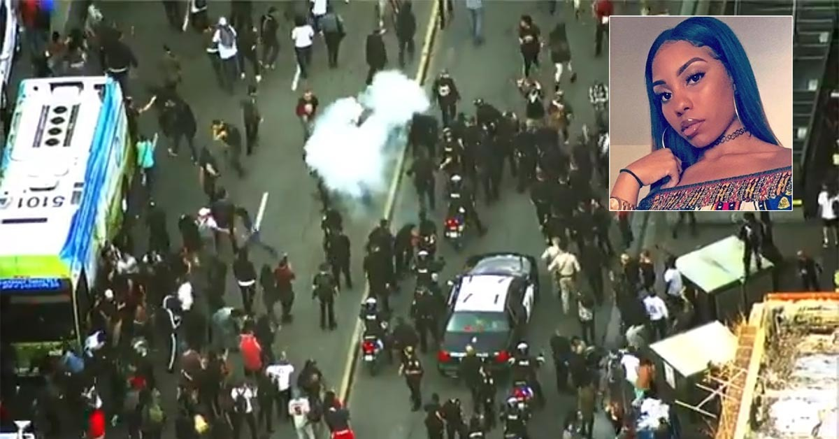 People Protesting Stabbing Of Nia Wilson Throw Explosives At Police