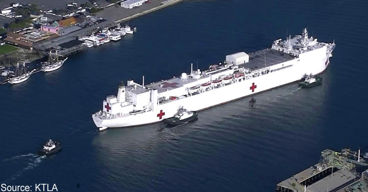 Train Engineer Derails Train Trying To Ram USNS Mercy Hospital Ship