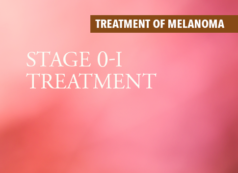 Stage 4 Lung Cancer >> Treatment of In Situ & Stage I Melanoma