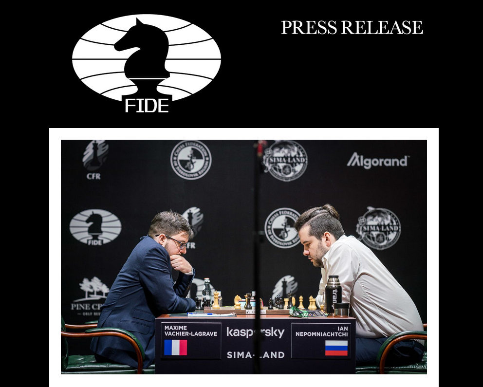 FIDE is forced to postpone the resumption of the Candidates until Spring 2021