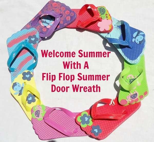 Summer Wreath Made With Flip Flops Craftbits