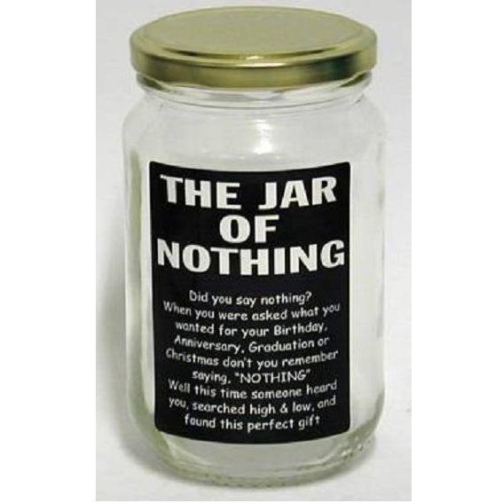 A Jar Of Nothing Gift Craftbits Com