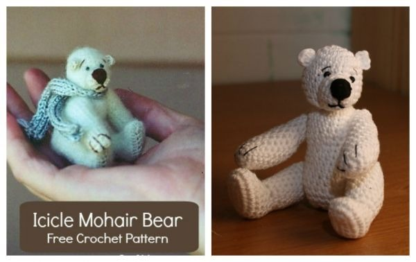 Icicle Mohair Bear Crochet Pattern Craftbits