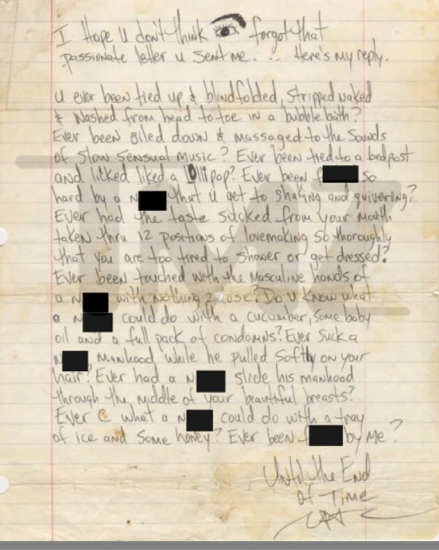 sex letters to boyfriend in jail examples tupac s letter to fan up for auction 24825