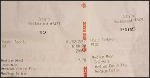 UPDATE: Arby's Responds To Employee Calling Police Pigs