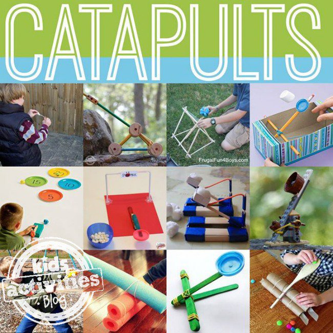 15 Easy Catapults To Make With Kids Kids Activities