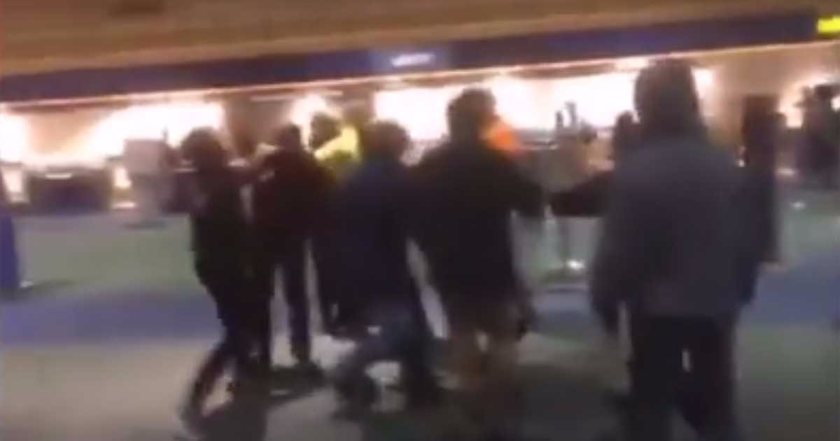 Watch: Trump Supporters Attacked, Knocked Unconscious, At Airport 'Protest'