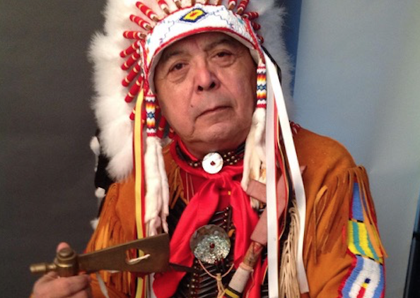 Sonny Skyhawk Bringing His War Bonnet To Oscars, Fighting For His People-9816