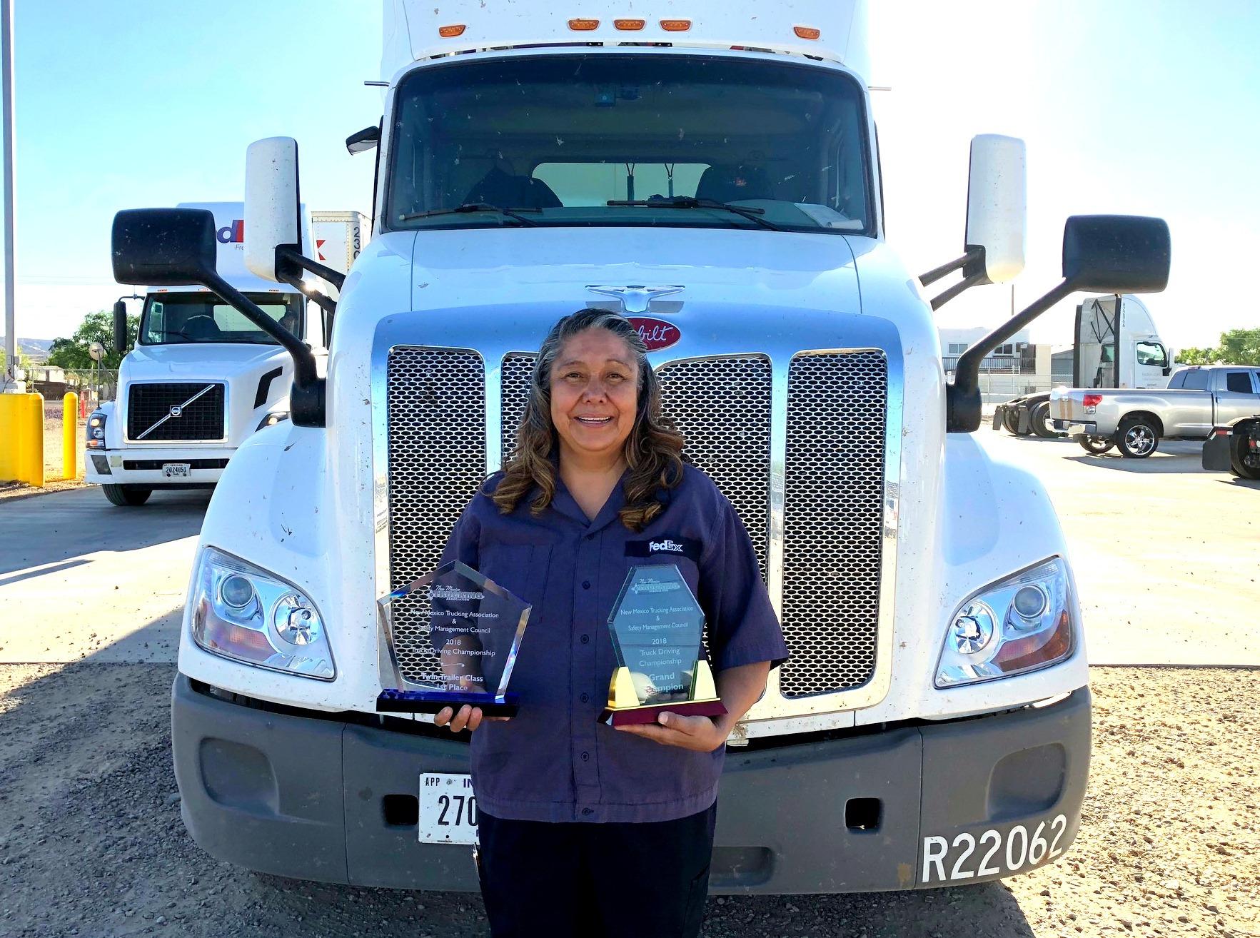 Loretta Bruyere Navajo 1st Woman To Win New Mexico Truck Driving