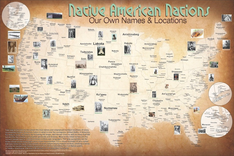 The 1491 Census: Native Creates Tribal Nations Map of Turtle ...