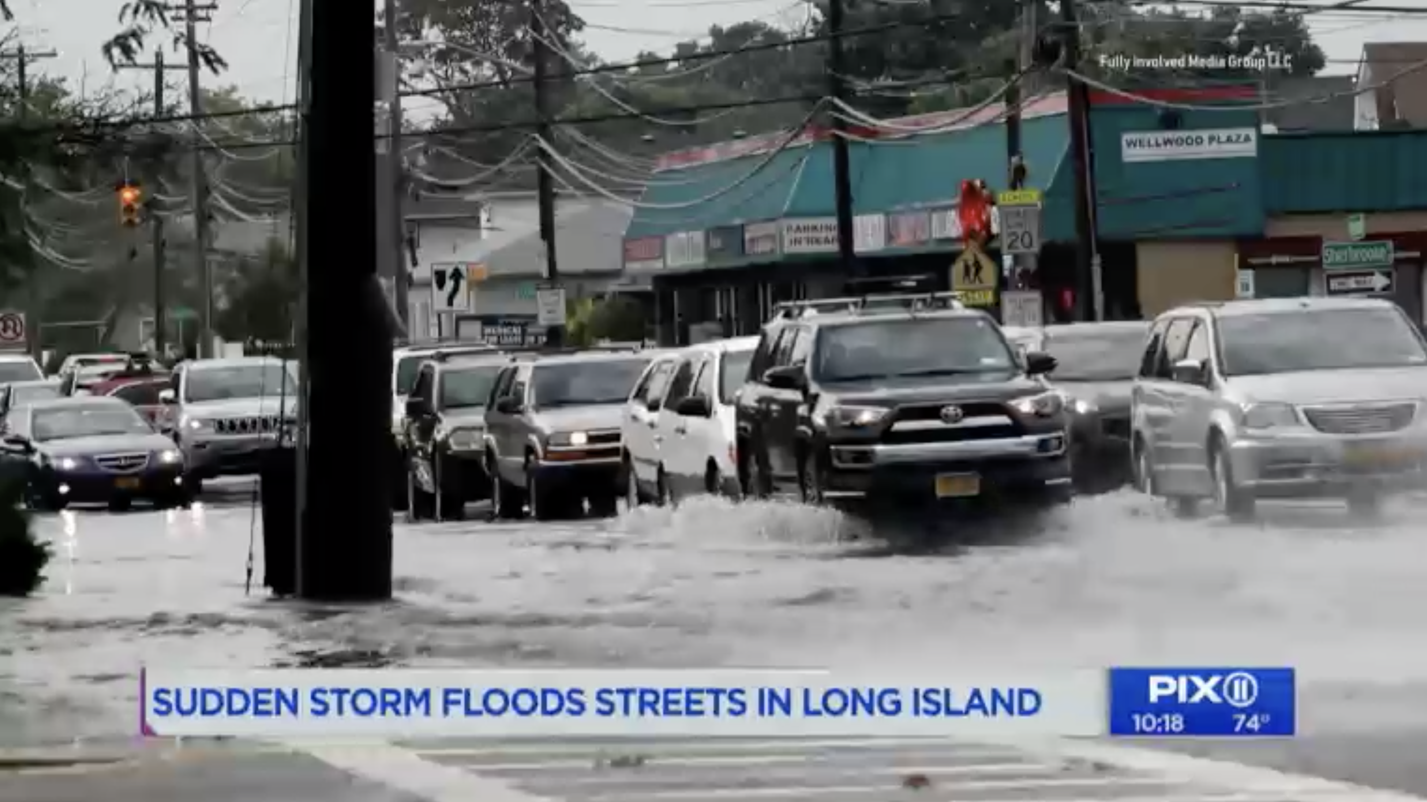 PIX11 NY aired our footage after a wild storm swept through