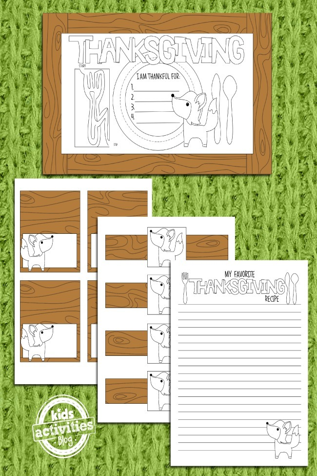 Thanksgiving Coloring Pages More Festive Placemats