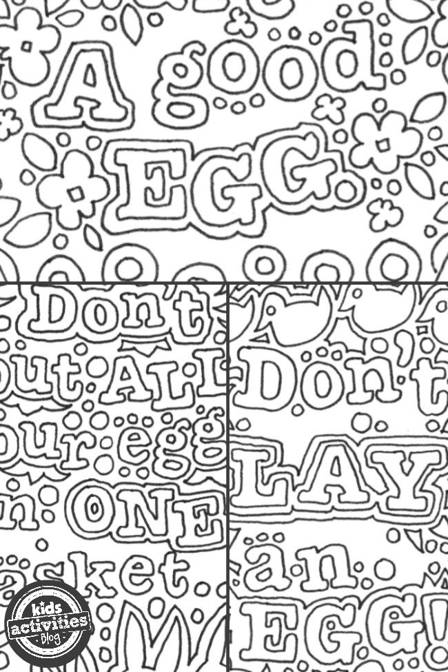 free kids easter egg doodle coloring pages kids activities