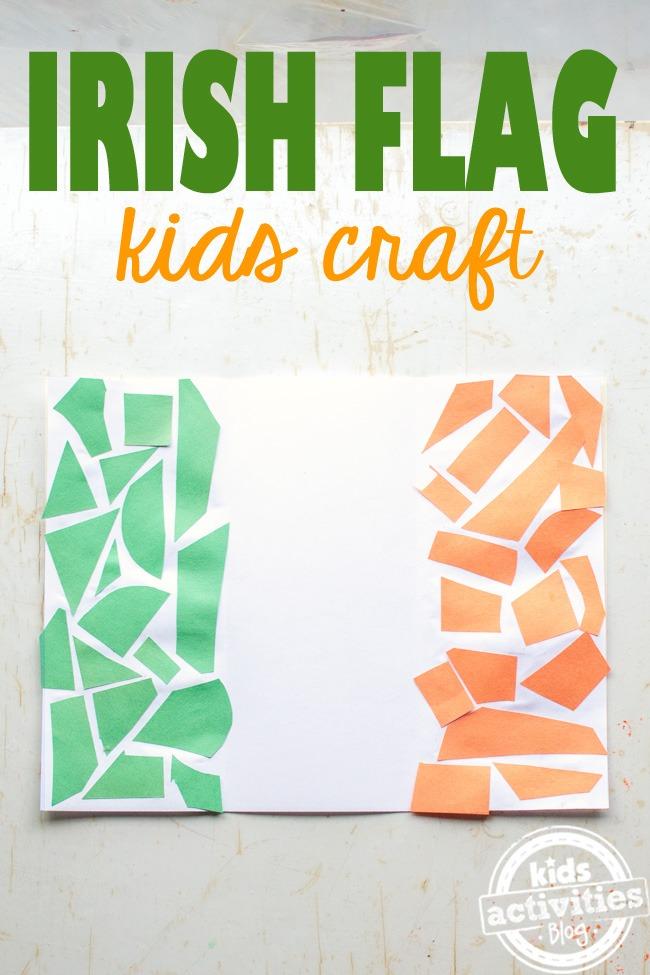 Kids Irish Flag Craft Celebrate St Patrick S Day