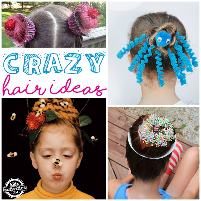 Crazy Hair Day Ideas For School Kids Activities