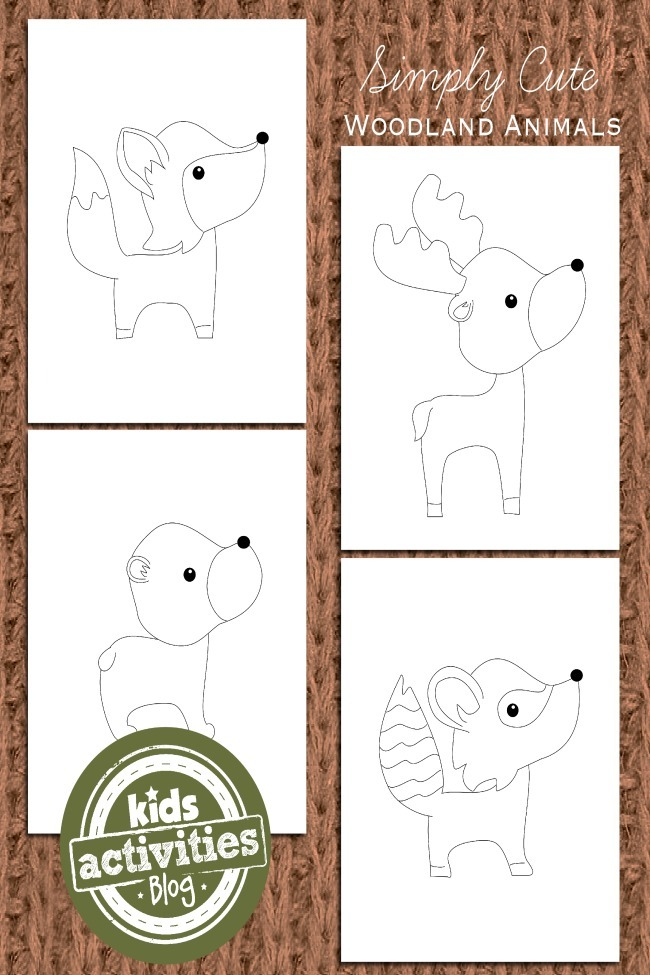 Adorable Woodland Animal Coloring Pages For Kids Kids