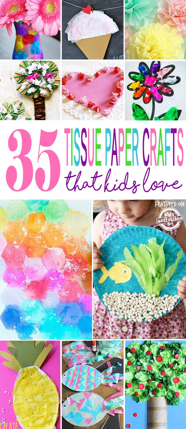 tissue paper craft ideas 35 adorable tissue paper crafts activities 5587