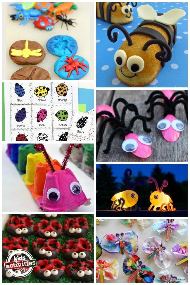 20 ADORABLE BUG CRAFTS, ACTIVITIES AND FOOD IDEAS - Kids Activities