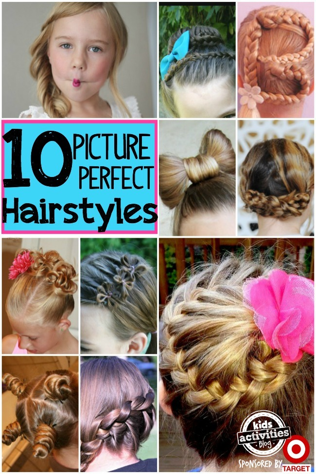 10 Picture Day Hairstyles For Girls Kids Activities
